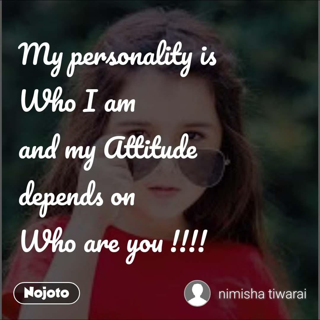 Personality Attitude Girl Shayari In English | Girls DP