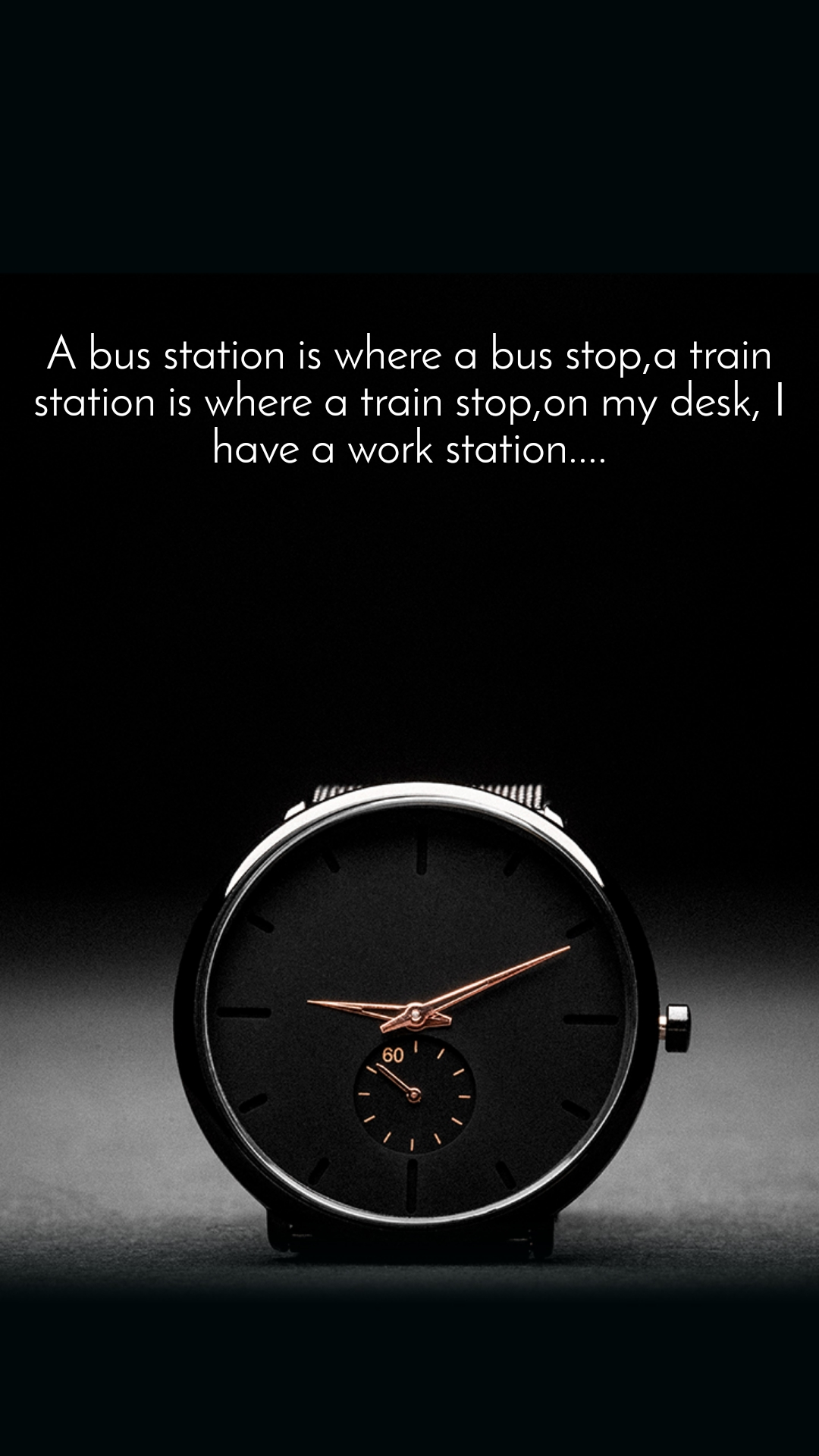 A bus station is where a bus stop,a train station is where a train stop,on my desk, I have a work station....