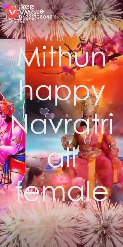 Mithun happy Navratri all female