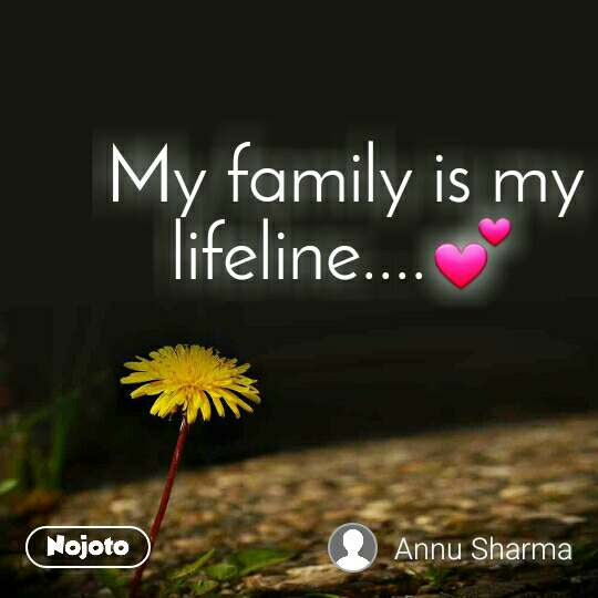 My family is my lifeline....💕