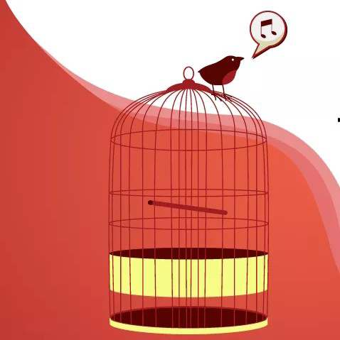 THE CAGED BIRD SINGS   {Read Caption Please } It w