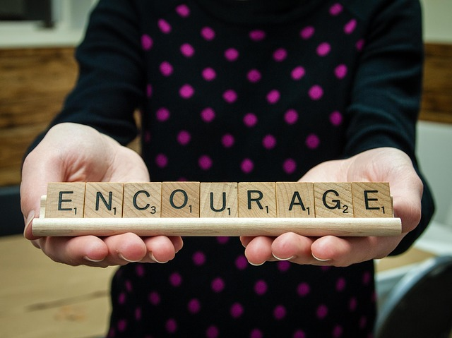 A word of encouragement from a teacher to a child