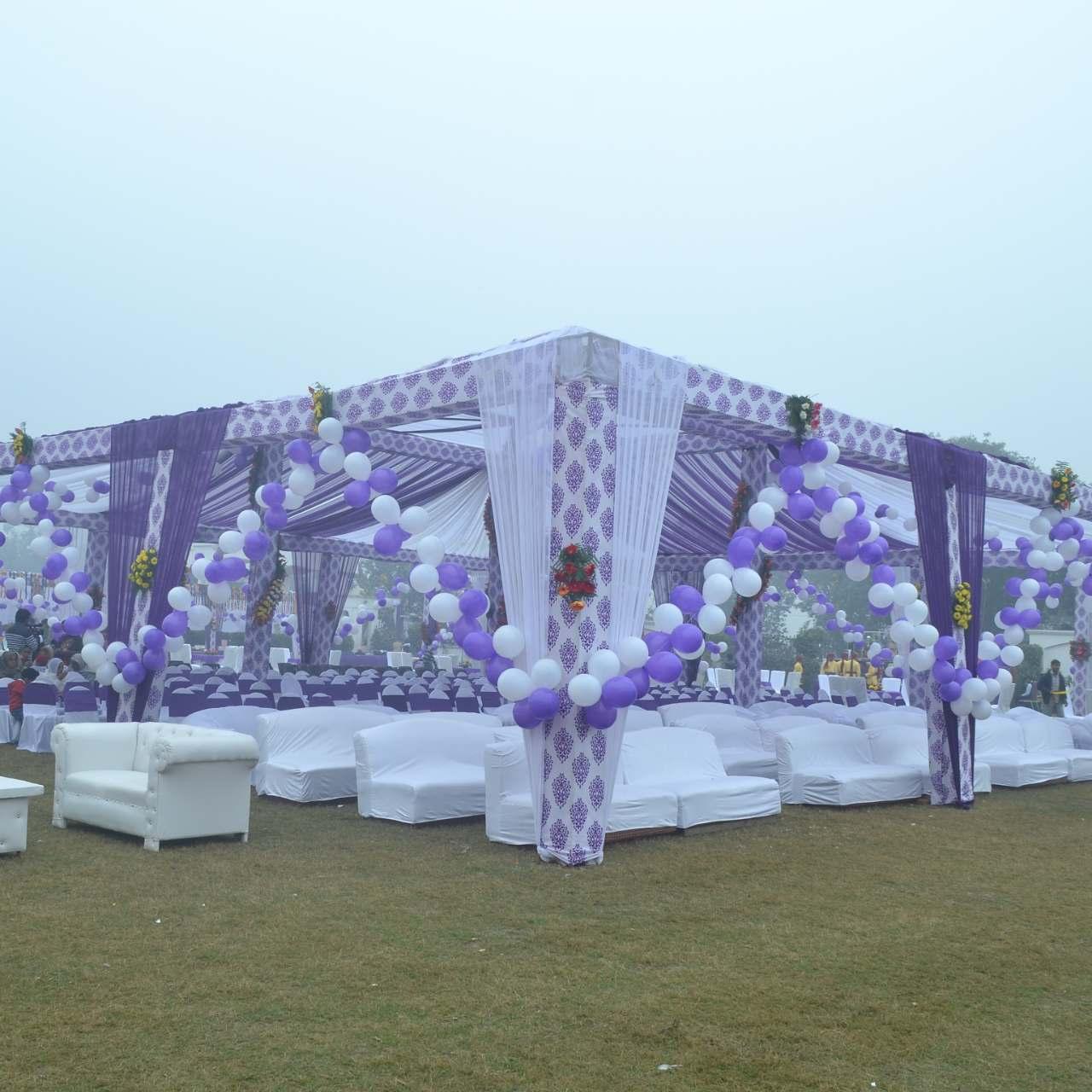 Chandni tent House kichha purple White theme
